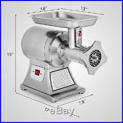 1.5HP Commercial Meat Grinder Sausage Stuffer powerful Kitchen Stainless Steel