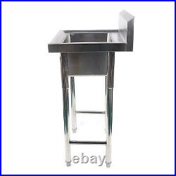 1 Compartment Commercial Stainless Steel Kitchen Utility Sink Restaurant Sink