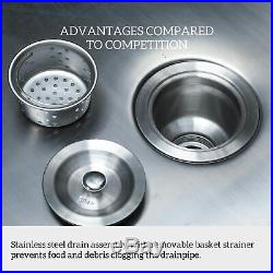 1 Compartment Stainless Steel Commercial Kitchen Sink W Drain Board Utility Sink
