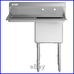 1 Compartment Stainless Steel Commercial NSF Prep Sink Commercial Kitchen USA