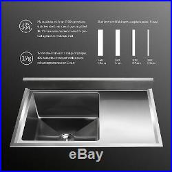 1 Compartment Stainless Steel Commercial Restaurant Bar Sink Kitchen Prep Sink
