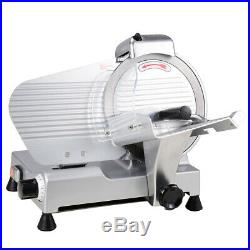 10 In Commercial Stainless Steel Blade Electric Meat Slicer Food Cutter Kitchen