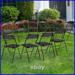 10 Pack Commercial Plastic Folding Chairs Stackable Picnic Wedding Party Chair