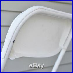 10 White Plastic Folding Chair 300 Lb Capacity All Weather Commercial Use