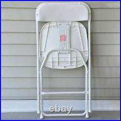10 White Plastic Folding Chair Commercial Event Party 300 lb Capacity Chairs