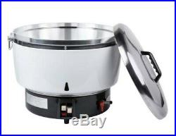 110 Cup Natural Gas Rice Cooker Non Stick Pot Commercial Kitchen Stainless Steel