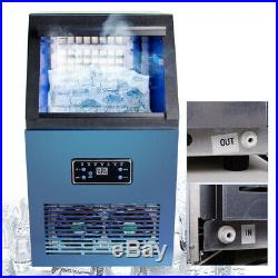 110LBS Commercial Ice Maker Machines Cube Stainless Steel Bar Restaurant/Kitchen