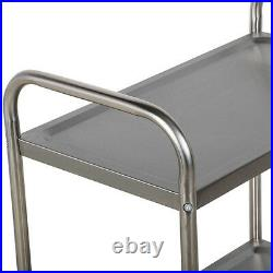 16 X 28 Stainless Steel Commercial 2 Shelf Utility Office Kitchen Hotel Cart