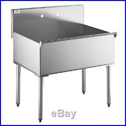 16Gauge 36 Commercial Kitchen Utility Sink Stainless Steel 36 X 24 X 14 Bowl