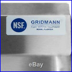 18 x 18 x 12 NSF Stainless Steel Commercial Kitchen Prep Utility Sink GRIDMAN