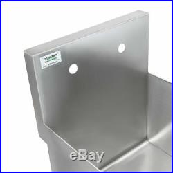 18 x 18 x 13 Stainless Steel Commercial Utility Kitchen Sink Hand Wash Tub