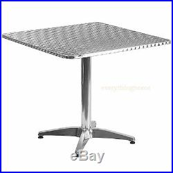 1950s Round / Square Commercial Aluminum Dining Table In/Outdoor 3 Sizes