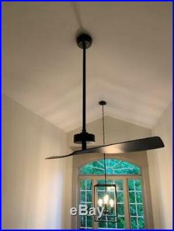 2 blade Limited edition 5 ft foot ceiling fan BIG HUGE ASS BIGASS black 60in