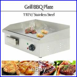 22 3000W Commercial Electric Griddle Kitchen Countertop Stainless Steel BBQ A++