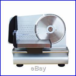 220V Kitchen Commercial Electric Deli Food Meat Cheese Slicer Cutter Blade