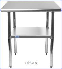 24 X 12 Stainless Steel Kitchen Work Table Commercial Restaurant Food Prep