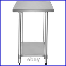 24 X 36 Stainless Steel Commercial Kitchen Food Prep Table