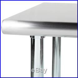 24 X 60 Stainless Steel Work Table Kitchen Prep Commercial with 4 Caster Wheels