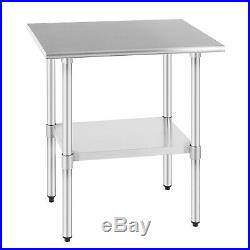 24 x 30 Commercial Prep Work Table Kitchen Stainless Steel Restaurant NSF Food