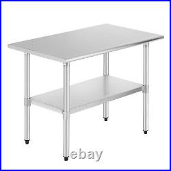 24 x 36 Commercial Stainless Steel Food Prep Work Table Kitchen Restaurant NSF