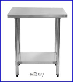 24 x 36 Stainless Steel Commercial Kitchen Work Food Prep Table Strong NEW