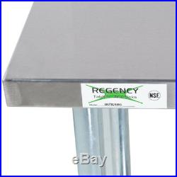 24 x 36 Stainless Steel Commercial Kitchen Work Prep Table with 4 Backsplash
