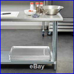 24 x 36 Stainless Steel NSF Commercial Kitchen Work Prep Table with Undershelf
