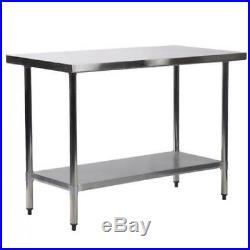 24 x 36 Stainless Steel Work Prep Table Commercial Kitchen Restaurant 24x36