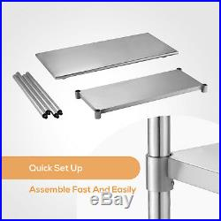 24 x 48 Commercial Work Table Stainless Steel Food Prep Kitchen Restaurant
