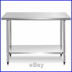 24 x 48 Stainless Steel Food Prep & Work Table Commercial Kitchen Worktable