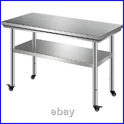 24 x 48 Stainless Steel Kitchen Work Table Commercial Kitchen Restaurant Table