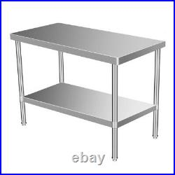 24 x 48 Stainless Steel Kitchen Work Table Commercial Restaurant Table 201