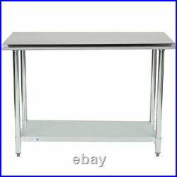 24 x 48 Stainless Steel Work Food Prep Table Commercial Kitchen Counter NSF