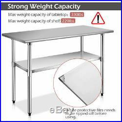 24 x 48 Stainless Steel Work Prep Table Commercial Kitchen Restaurant New