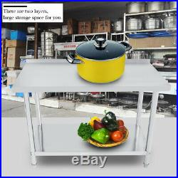 24 x 48 Work Table Food Prep Stainless Steel Commercial Kitchen Restaurant USA