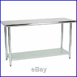 24 x 60 Stainless Steel Commercial Kitchen Work Food Prep Table NSF Counter