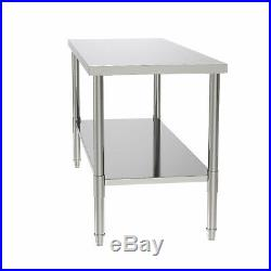 24 x 60 Stainless Steel Kitchen Food Prep & Work Table Commercial Restaurant