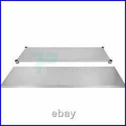 24 x 72 In Stainless Steel Commercial Work Table NSF Kitchen Restaurant Table
