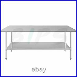 24 x 72'' Stainless Steel NSF Commercial Kitchen Food Work Table with Undershelf