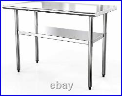 24x 48 Work Prep Table Commercial Stainless Steel Food Kitchen Restaurant NSF