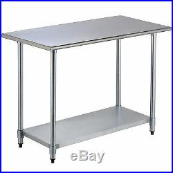 24x 48 Work Table Food Prep Commercial Stainless Steel Kitchen Restaurant