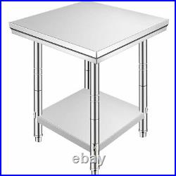 24x24x34.6 Commercial Stainless Steel Restaurant Kitchen Food Prep Work Table