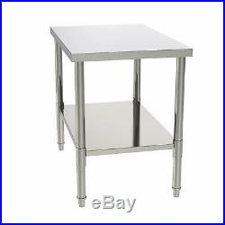24x36x32 Commercial Stainless Steel Heavy Duty Food Prep Work Table Kitchen
