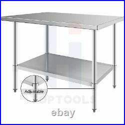 24x48 Commercial Kitchen Stainless Steel Food Prep Work Table with Undershelf