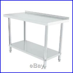24x48 Commercial Stainless Steel Food Prep Work Table Kitchen Restaurant 0.6mm
