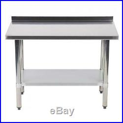 24x48 Stainless Steel Work Table with Backsplash Commercial Kitchen Restaurant +