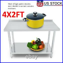 24x48 Work Table Food Prep Stainless Steel Commercial Kitchen Restaurant New