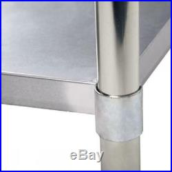 24x60 Stainless Steel Work Table with Backsplash Commercial Kitchen Restaurant +