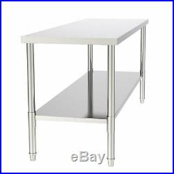 24x70x32 Commercial Stainless Steel Heavy Duty Food Prep Work Table Kitchen