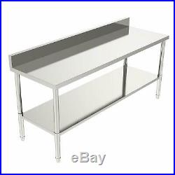 24x70x36 Commercial Stainless Steel Heavy Duty Food Prep Work Table Kitchen